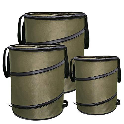 Rvest Garten Mülleimer,Komposteimer,Garten Mülleimer Pop-Up Mülleimer Tragbar Faltbarer Müllblattbehälter Für Rasengarten