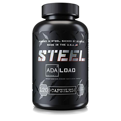 Steel Supplements ADA-Load   Carb Blocker Pills for Weight Loss, Blood Sugar Management and Muscle Pumps   Advanced Nutrient Partitioning Supplement for Men and Women, 120 Capsules