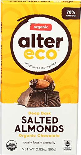 image of Alter Eco Organic 70% Cacao Salted Almonds Deep Dark Chocolate