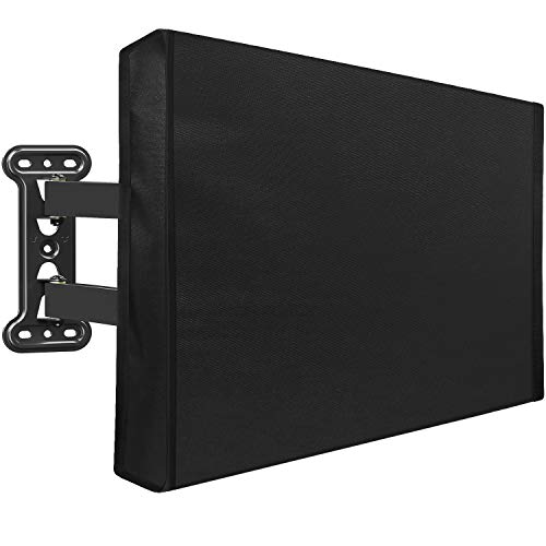 Mounting Dream Outdoor TV Cover Weatherproof with Bottom Cover for 38-40 inch TV, Waterproof and Dustproof TV Screen Protectors with Remote Control Pocket for Outside LED, LCD, OLED Flat Screen TVs