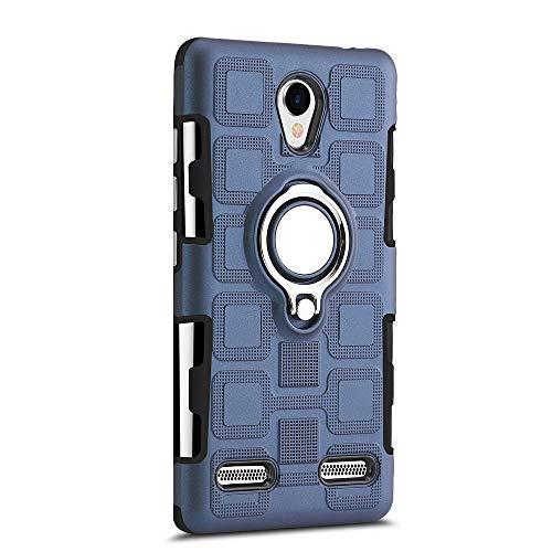 Sunrive Für ZTE Blade L7 Hülle Silikon, 360°drehbarer Ständer Ring Fingerhalter Fingerhalterung Handyhülle matt Schutzhülle Etui Hülle (11 Dunkelblau)+Gratis Universal Eingabestift