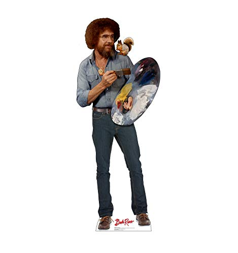 Advanced Graphics Bob Ross & Friend Life Size Cardboard Cutout Standup