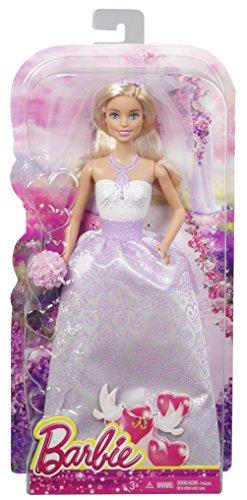 Barbie - Muñeca, Traje de Novia, Color Blanco (Mattel DHC35)
