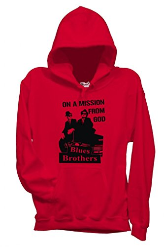 MUSH Sweatshirt Blues Brothers on A Mission from God - Film by Dress Your Style - Homme-L-Rouge