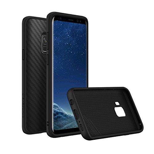 RhinoShield Case kompatibel mit Samsung [Galaxy S9] | SolidSuit - Schock Absorbierende Schutzhülle mit Premium Finish 3,5 Meter Fallschutz - Carbon Fiber