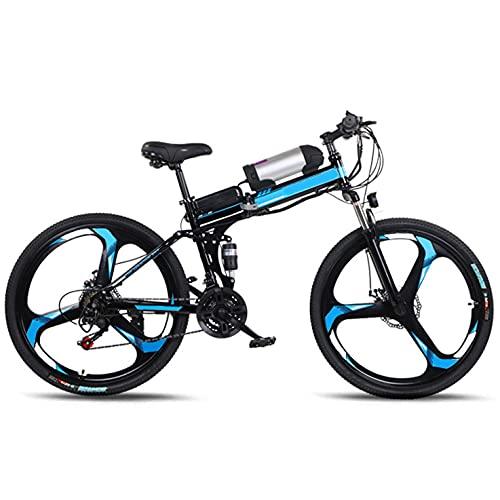 WPeng Adultos Bicicletas Eléctricas Montaña,Bicicletas Eléctricas MTB Plegables,Marco Aleación Aluminio,250W 36V 8Ah All Terrain 26' Bicicleta Montaña para Ciclismo Aire Libre,Viajes,Ejercicio,Negro