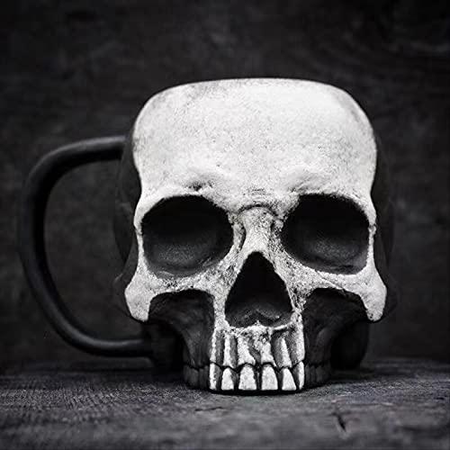 Aimbinet Novedad Cráneo Taza Decorativa Taza Jarra Taza Gótica De Beber Té De Café para Halloween Navidad Cumpleaños