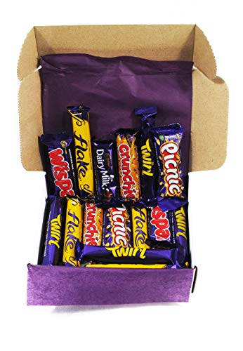 Cadbury Chocolate Bar Selection Gift Box. 25 Favourite Choc Sweets Valentine Gift, Colleague Appreciation, Easter Present or Summer Spring Treats