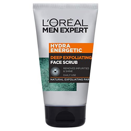 L'Oréal Men Expert Face Scrub Hydra Energetic - Detergente esfoliante per il viso, da uomo, 100 ml