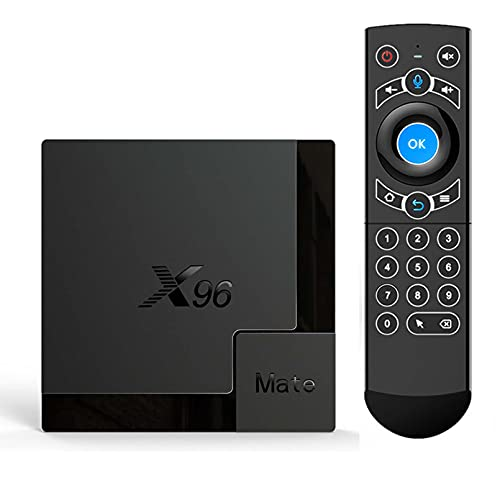 X96 Mate TV Box Android 10 Soporte 2.4G 5G DUAL WIFI ASSISTENTE ASSISTENTE 4K 60FPS Support Google Player YouTube X96Mate TVBOX(Color:4G+32G)