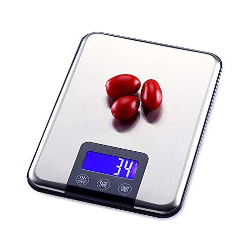 YZSHOUSE 15kg Digital Acero Inoxidable Báscula De Cocina, Casa Electrónico Balanza para Hornear 5kg Té Escala Alimenticia (Size : 15KG)