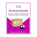 HP Instant Ink - $5 Prepaid Code - Ink Delivery Service for HP 62, HP 63, HP 64, HP 65, HP 902, HP 906, HP 950, HP 951, HP 952, HP 956