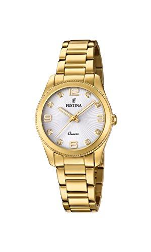 Festina Damen Analog Quarz Uhr mit Edelstahl beschichtet Armband F20210/1
