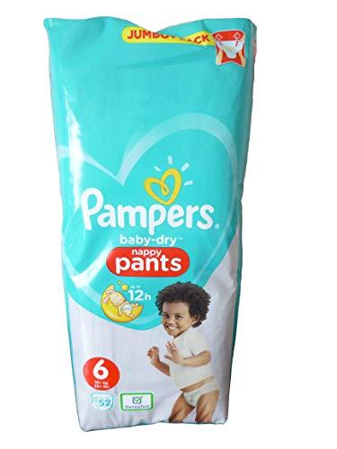 Pampers Baby-Dry Windelhosen, Größe 6, 52 Stück