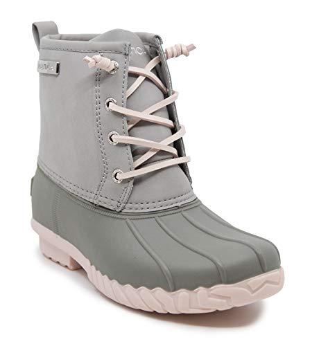 Nautica Kids Girls Youth Waterproof Duck Boot Winter Shoe-Truett Youth-Light Grey-5