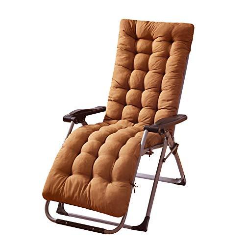 MAODOU Deckchair Sitzkissen, Gartenstuhlkissen Sitzkissen Polsterauflage ca. Polster ca. 8 cm dick, für Gartenmöbel (Nicht enthalten Stühle) Brown 155x48x8cm