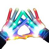 Espistmo LED Handschuhe Bunte Beleuchtung Finger Glow Für Halloween, Clubs, Festivals, Weihnachten,...
