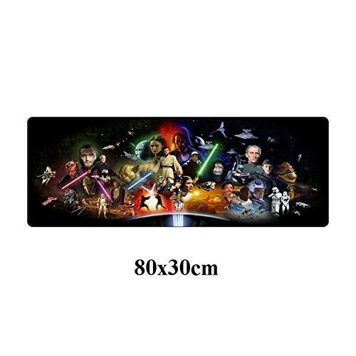 Nuevo Cojín de ratón Grande 80x30cm Star Wars Durable de Goma Juego Mousepad Moda portátil portátil de Escritorio del Ordenador Gamer Mat Antideslizante Alfombrilla de ratón (Color : Pink)