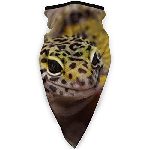 BJAMAJ Aquarelle léopard Gecko Extérieur Visage Bouche Masque Coupe-Vent Sports Masque Masque Masque de Ski Bouclier Écharpe Bandana Hommes Femme