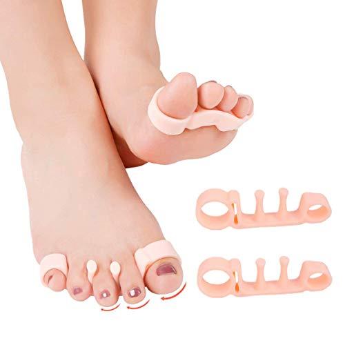 【改良版】Glapure 足指 広げる 足指サポーター シリコン素材 外反母趾サポーター 足指セパレーター 男女兼用 (肌色)