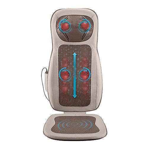 HoMedics Pro Performance Back Massage Cushion with Subtle Heat | Intense Shiatsu Neck & Back Massage...