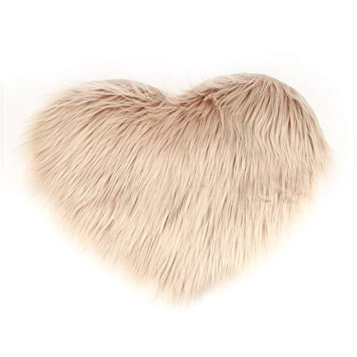 MOHAN88 1 Stück grenzüberschreitende Imitation Wolle Pfirsich Herz Teppich Mat...