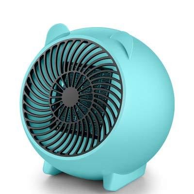 Calentador De Ventilador Pequeño Calentador De Ventilador Eléctrico Ventilador Portátil Calentador De Espacio De Calefacción Oficina En Casa Calefacción De Escritorio Ventilador De Aire (Color:azul)