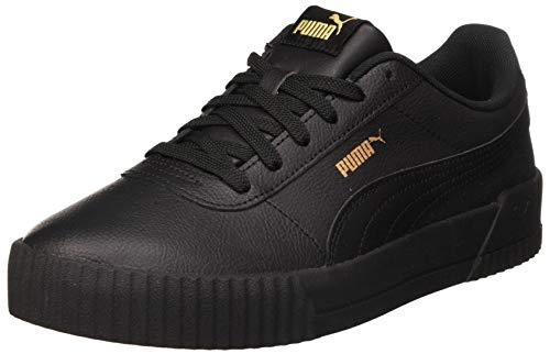 PUMA Damen Carina L Sneaker, Black Black Team Gold, 39 EU