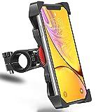 KaiYunSheng Porte Téléphone Vélo, Support Bicyclette pour Moto Ajustable Universelle pour iPhone X/XR/XS Max/8/7/6 Plus, Samsung Galaxy S10/S10e/S9/S8 Plus et Autres 3.5'-6.5' Smart Phones