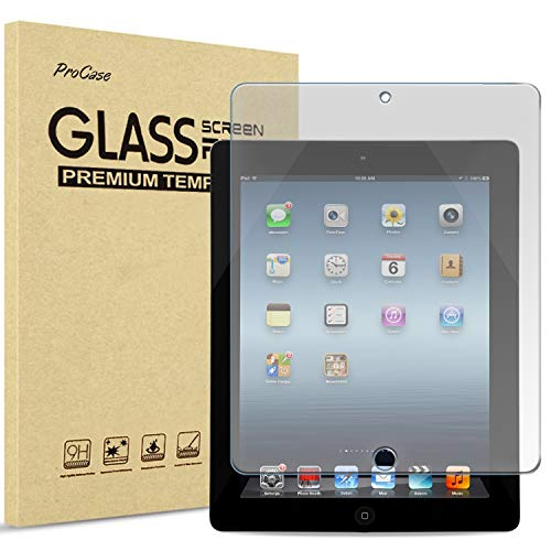 ProCase for iPad 2 3 4 Screen Protector (Old Model), Anti-fingerprint Matte Tempered Glass Screen Film Guard for iPad 2/iPad 3/iPad 4