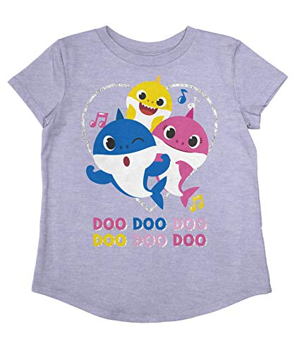 Jumping Beans Toddler Girls Baby Shark Doo Doo Family SS Tee 3T Lavender