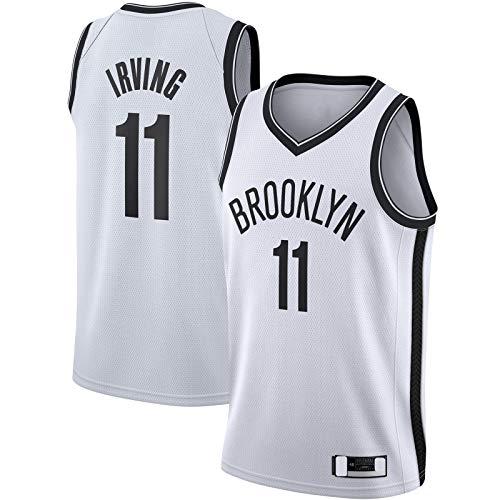 XIAOJI Uniforme del equipo blanco -PopularIrving Basketball Jersey Brooklyn Sweatshirt Nets Camiseta #11 Kyrie Swingman Jersey Association Edition-L