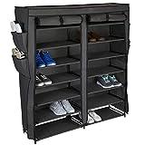 Home Basics Multipurpose Portable Wardrobe Storage Closet For Shoes and Clothing...