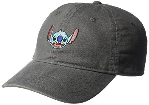 Disney Men's Lilo & Stitch Baseball Cap, Grey, One Size