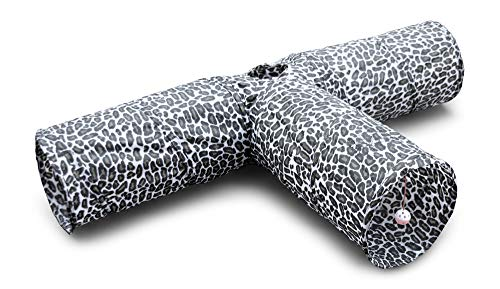 Feline Ruff 3 Way Cat Tunnel. Extra Large 12 Inch Diameter and Extra Long. A Big Collapsible Play...