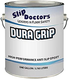 Non-Slip Textured Paint, Barefoot & Pet Friendly to Reduce Slip and Falls. Commercial & Residential Use. Dura Grip (Clear, Gallon)