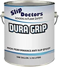 Non-Slip Textured Paint, Barefoot & Pet Friendly to Reduce Slip and Falls. Commercial & Residential Use. Dura Grip (Light Gray, Gallon)