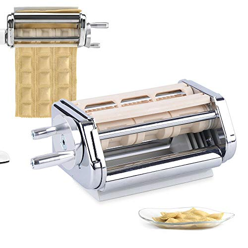 Ravioli Maker Attachment Stainless Steel for KitchenAid Stand Mixer Silver