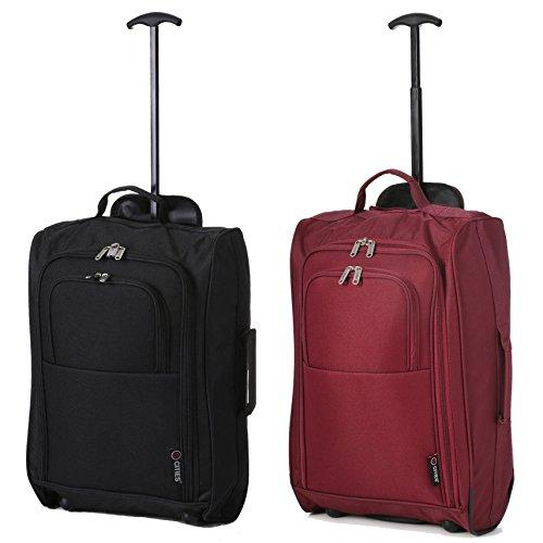 Set di 2 bagaglio a mano trolley a due ruote leggero per Ryanair/Easyjet
