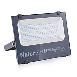 100W LED Foco Exterior de alto brillo,10000LM Impermeable IP66 Proyector Foco LED, Iluminación de Seguridad, 6000K Blanco Frío para Pared,Patio, Camino, Jardín [Clase de eficiencia energética A++]