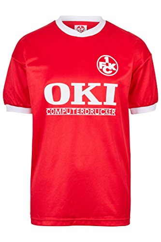 ScoreDraw Herren Retro - Trikot 1. FC Kaiserslautern | Heimtrikot 1991 in Rot, Größe: M