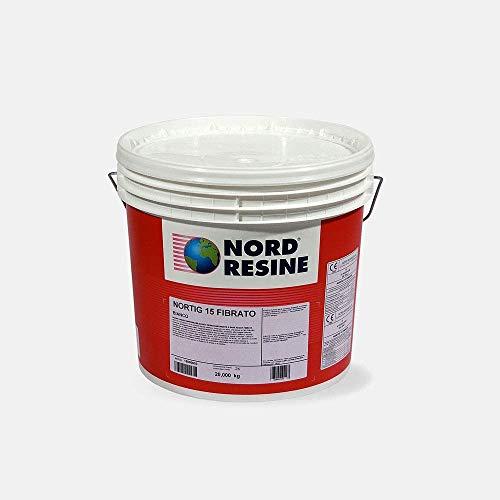 Guaina liquida impermeabilizzante Nortig 15 Fibrato Nord Resine, colore grigio 5 Kg