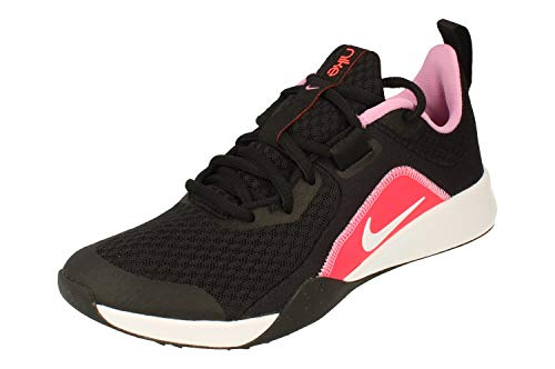 Nike Mujeres Foundation Elite TR 2 Running Trainers CU2918 Sneakers Zapatos (UK 6.5 US 9 EU 40.5, Black White Flash Crimson 004)