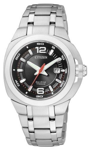 Citizen EW0930-55E - Reloj analógico de Cuarzo para Mujer, Correa de Titanio Multicolor