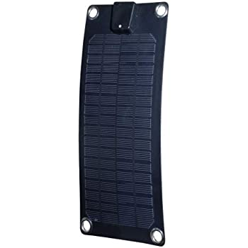 Amazon Com Nature Power 56801 3 Watt Semi Flex Monocrystalline Solar Panel For 12 Volt Trickle Charging Black Garden Outdoor