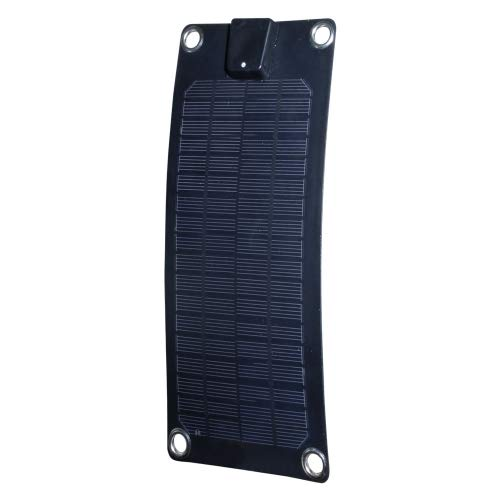 Nature Power 56801 3-watt Semi-Flex Monocrystalline Solar Panel for 12-volt Trickle Charging,Black