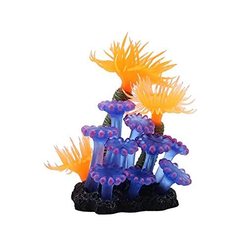 Creacec - Corallo artificiale, decorazione per acquario, corallo, per la casa, colore: Viola