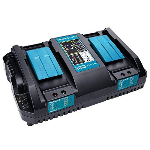 GGOOD DC18RD Cargador rápido reemplazo de la Herramienta eléctrica de Iones de Litio Cargador 4A 7.2V-18V de Makita Poder Herramienta batería DC18RA DC18RC, Suministros Herramienta y Accesorios