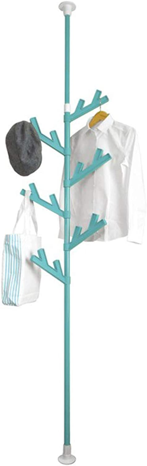 Chunlan Coat rack Creative Tree Coat Rack Save Space Hanger Multiple colors to Choose from (color   bluee)