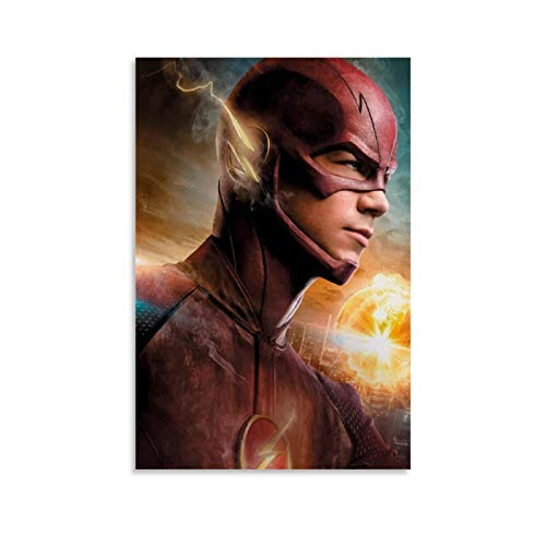 xiaoxian Barry Allen The Flash Running Poster - Lienzo decorativo para pared (30 x 45 cm)